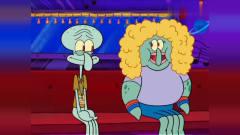 章鱼哥在车上跟胖章鱼美女搭讪,非常的害羞哦