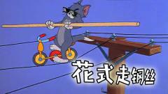 四川方言:汤姆猫为了抓海豹表演花式走钢丝,