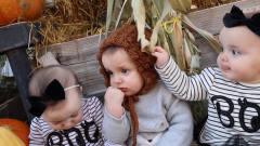 3胞胎排排坐,一个个看起来都不好惹的样子,太