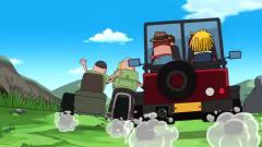 搞笑吃鸡动画 车神瓦特与对手死亡飙车, 对手有