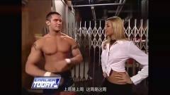 回看美国职业摔跤兰迪奥顿被美女强吻,这表情