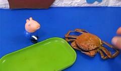小螃蟹吃了乔治给的辣条,结果变成了这样,真